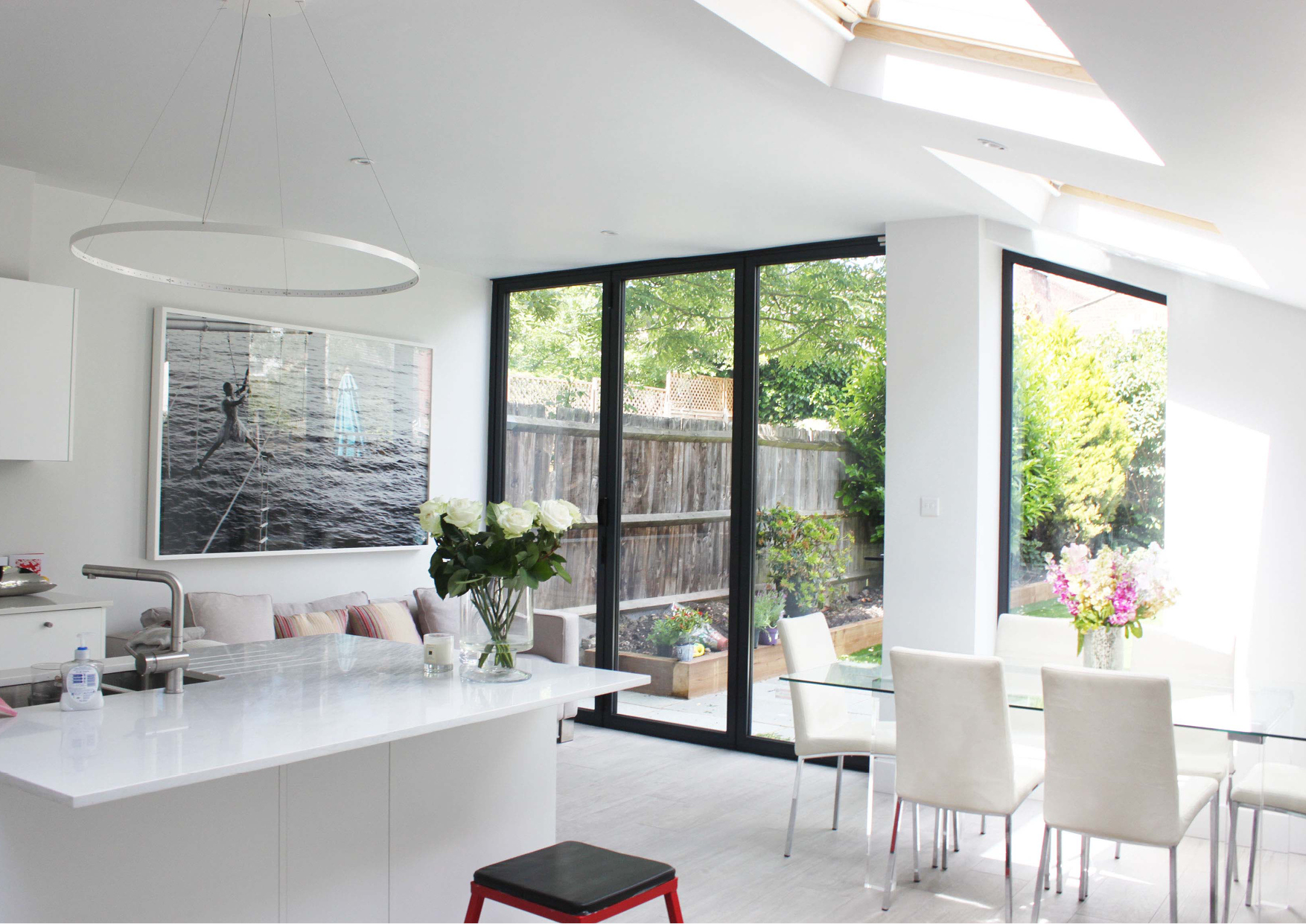 A refurbishment and extension of a Victorian house in Queens Park, London.