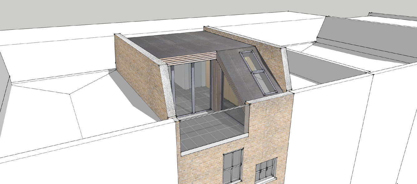1000 images about 133 on pinterest rear extension for Mansard roof section